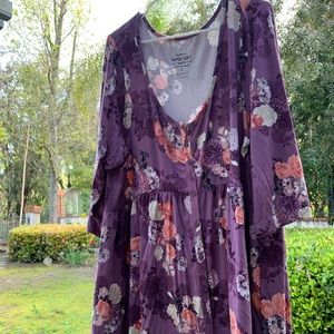 Torrid Super Soft Floral Bell Sleeved Shirt 3X